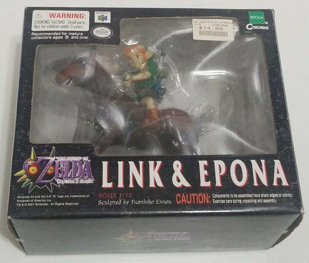 Epoch Legend of Zelda Majora's Mask - Link and Epona (2001)