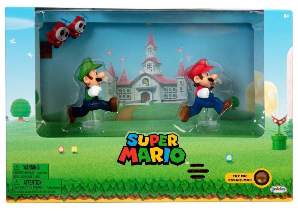 Jakks' Super Mario - Mario and Luigi Figures with Interactive Background Summer Convention 2020