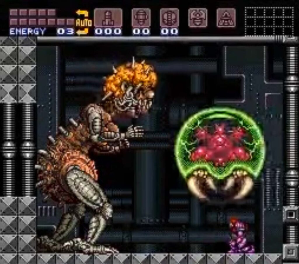 Mother Brain from Super Metroid